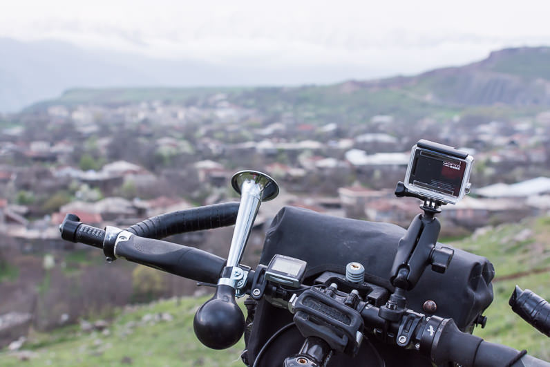 Manillar de bicicleta de cicloturismo