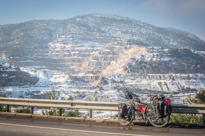 Cicloturismo en invierno