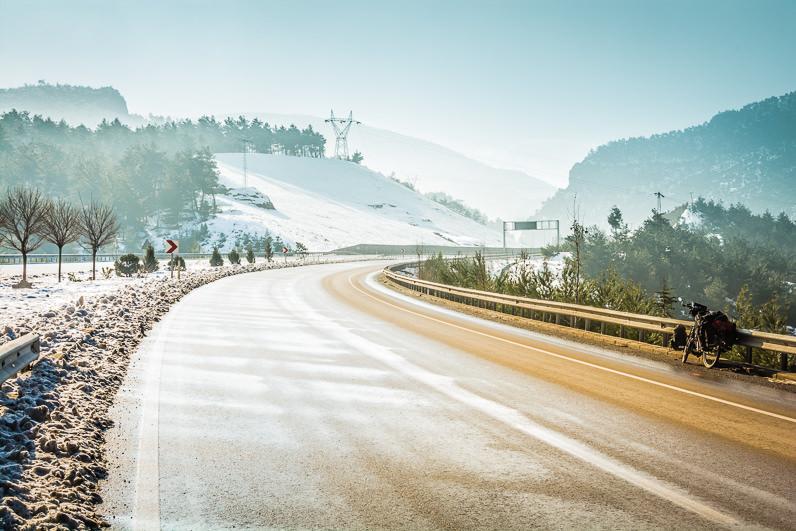 Nieve y bicicleta