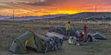 Cicloturismo y acampada