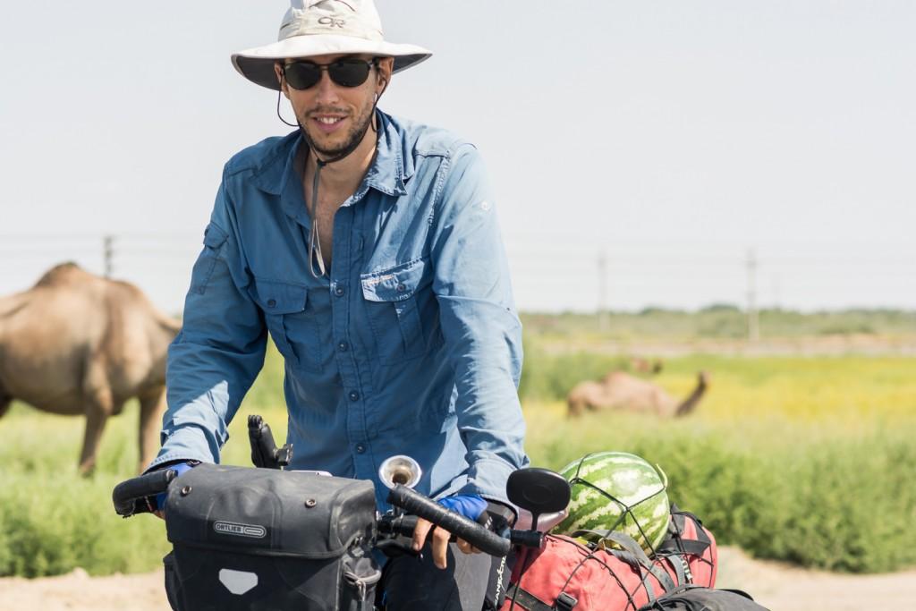Pablo, viajero dando la vuelta al mundo en bicicleta