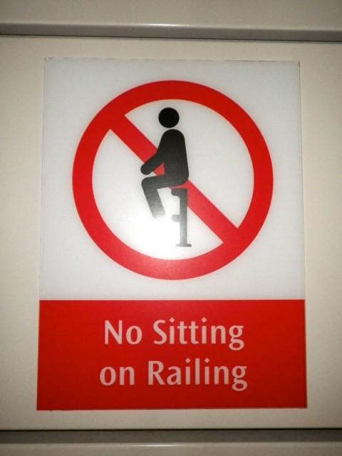 Prohibido sentarse