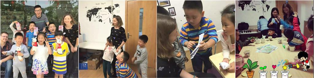 Ilze trabajando como profesora de inglés en China