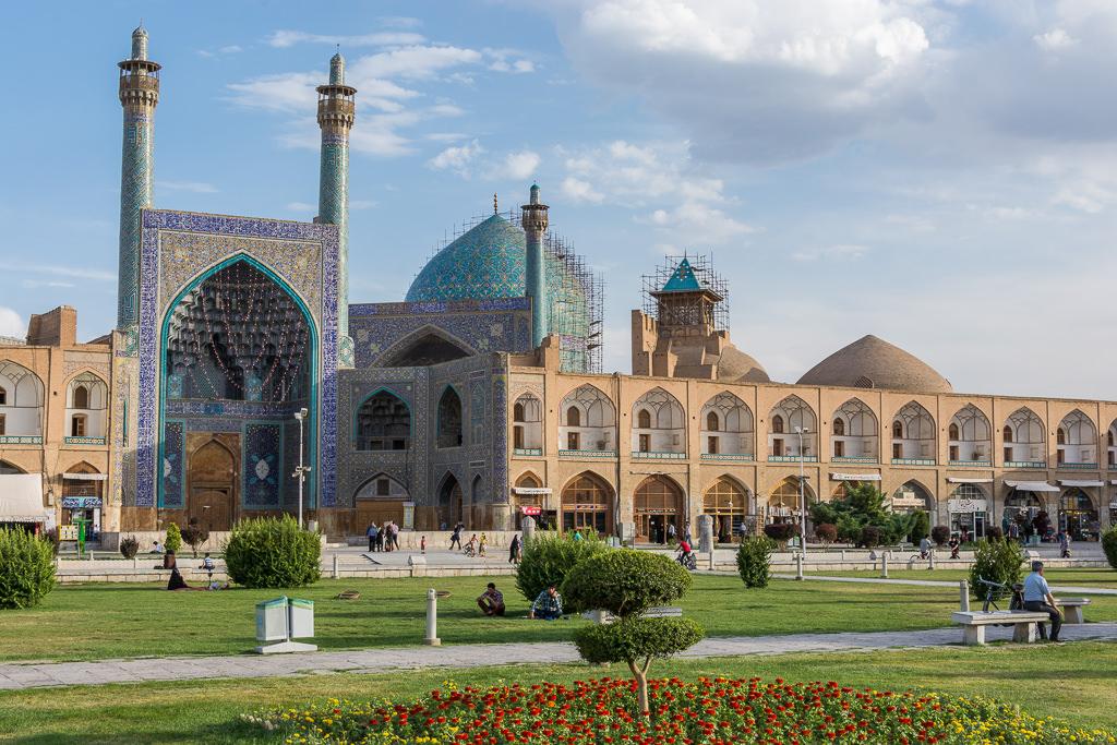 Mezquita central en Isfahán de día