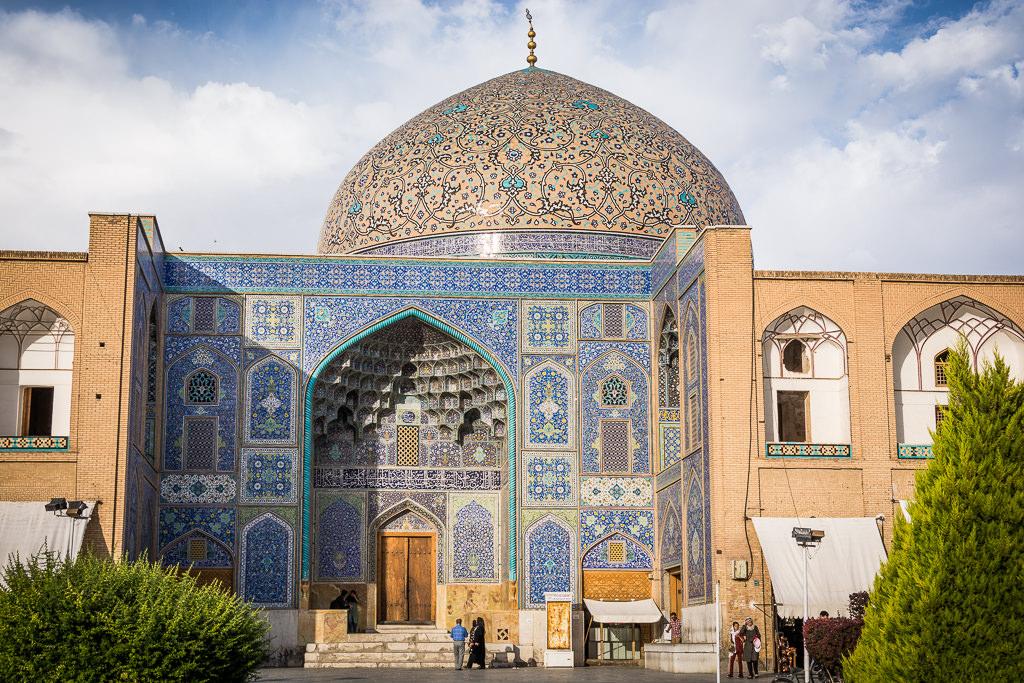 Mezquita en Isfahán de día