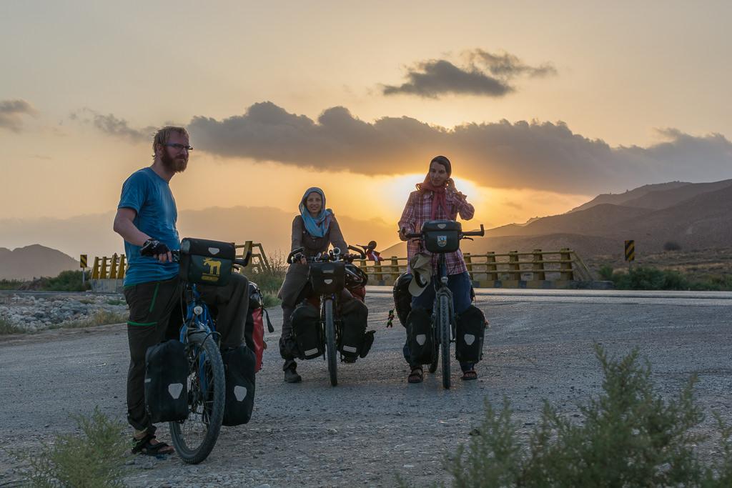 Encuentro con otros viajeros en bicicleta
